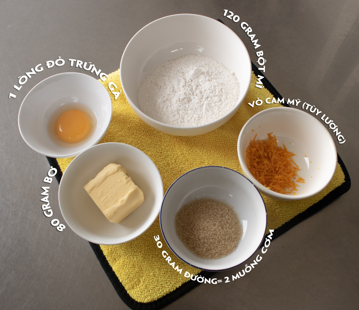 Cách làm bánh Tart cheese vị cam