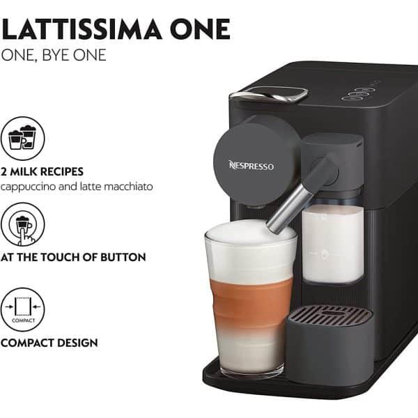 Máy Pha Cà Phê Delonghi Nespresso Lattissima One EN 510.B-2