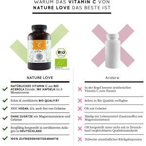 Viên Nang Nature Love Vitamin C Aus Bio Acerola 180 Viên