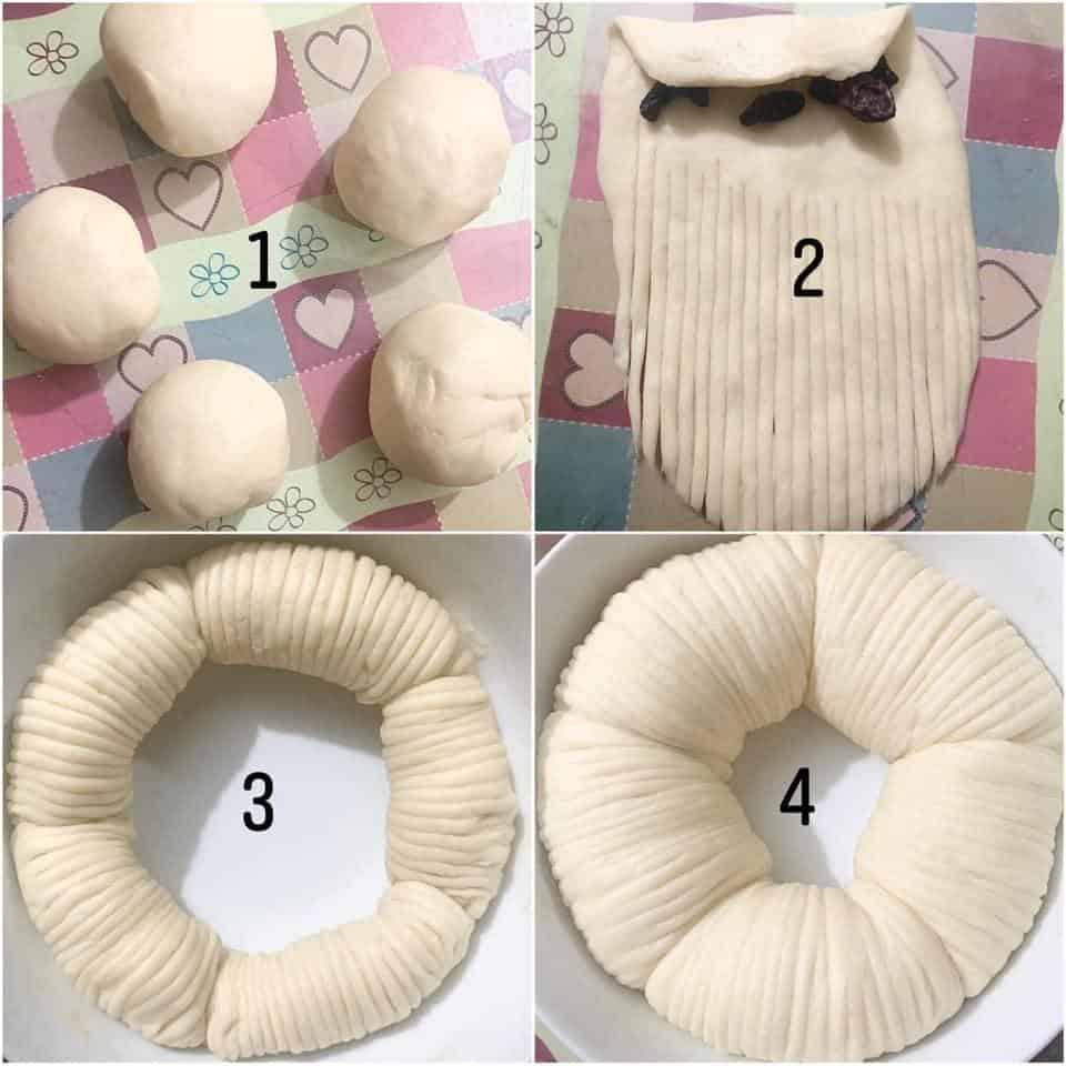 Các bước làm bánh mì cuộn len