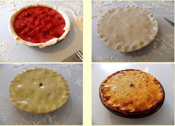 Cách làm bánh pie dâu tây