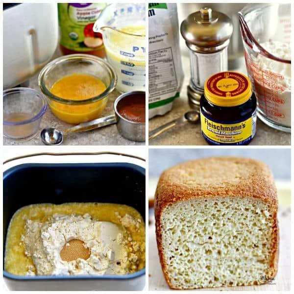Công thức làm bánh mì không gluten với máy làm bánh mì